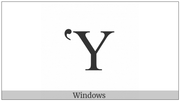 Greek Capital Letter Upsilon With Dasia on various operating systems