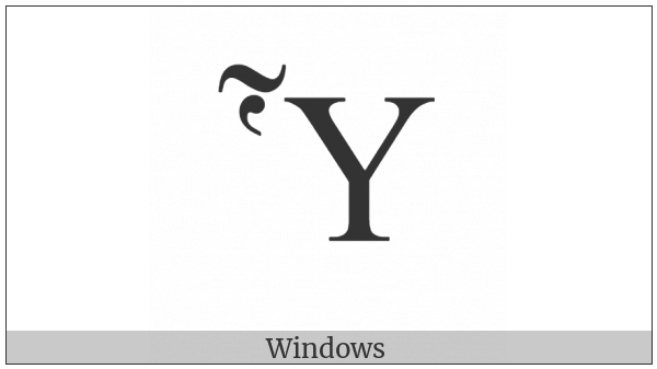 Greek Capital Letter Upsilon With Dasia And Perispomeni on various operating systems