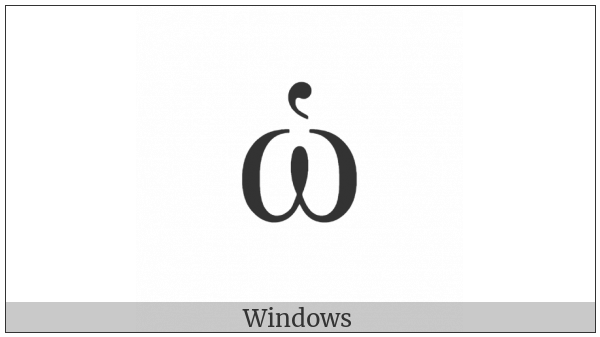 Greek Small Letter Omega With Dasia on various operating systems