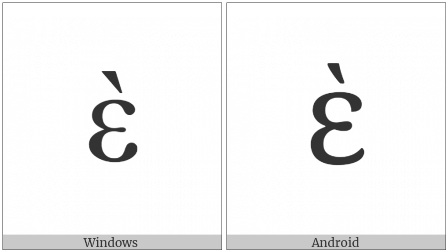 Greek Small Letter Epsilon With Varia on various operating systems