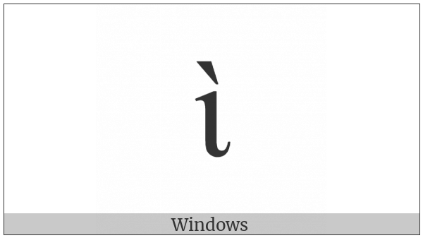 Greek Small Letter Iota With Varia on various operating systems