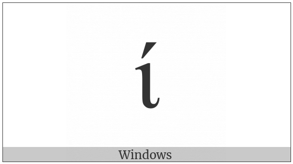 Greek Small Letter Iota With Oxia on various operating systems