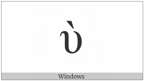 Greek Small Letter Upsilon With Varia on various operating systems