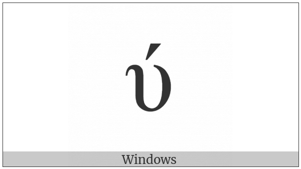 Greek Small Letter Upsilon With Oxia on various operating systems