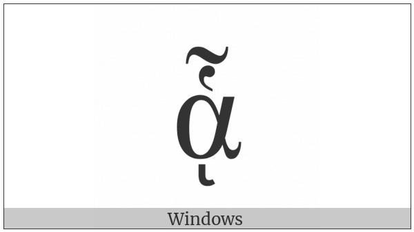Greek Small Letter Alpha With Dasia And Perispomeni And Ypogegrammeni on various operating systems