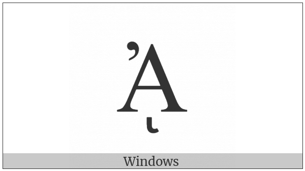 Greek Capital Letter Alpha With Psili And Prosgegrammeni on various operating systems
