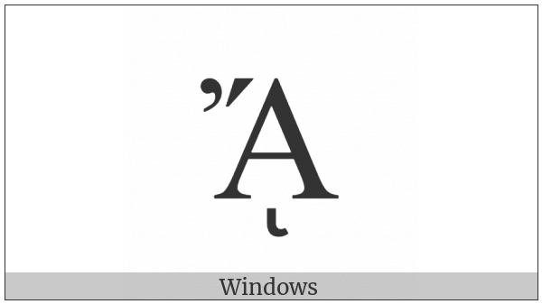 Greek Capital Letter Alpha With Psili And Oxia And Prosgegrammeni on various operating systems
