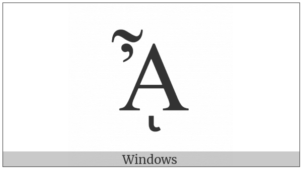 Greek Capital Letter Alpha With Psili And Perispomeni And Prosgegrammeni on various operating systems