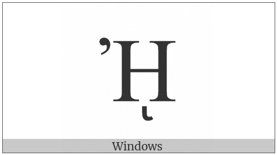 Greek Capital Letter Eta With Psili And Prosgegrammeni on various operating systems
