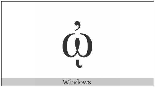 Greek Small Letter Omega With Psili And Ypogegrammeni on various operating systems