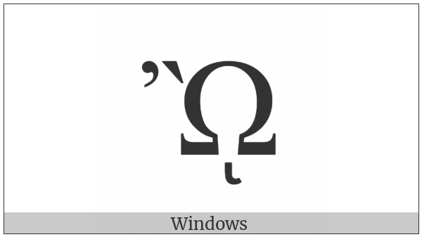 Greek Capital Letter Omega With Psili And Varia And Prosgegrammeni on various operating systems
