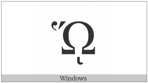 Greek Capital Letter Omega With Dasia And Oxia And Prosgegrammeni on various operating systems