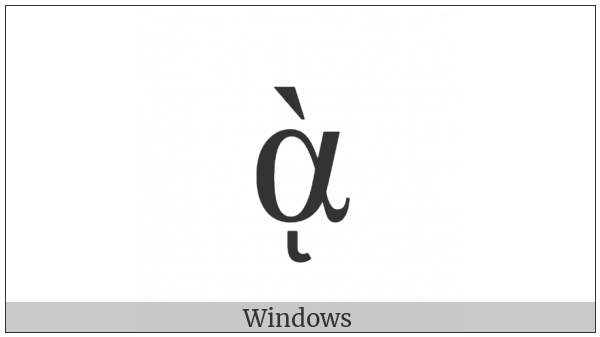 Greek Small Letter Alpha With Varia And Ypogegrammeni on various operating systems
