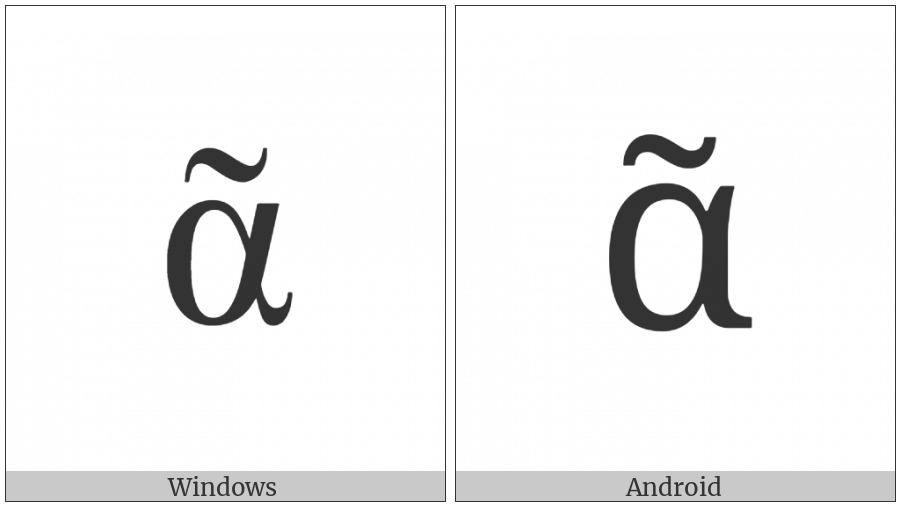 Greek Small Letter Alpha With Perispomeni on various operating systems