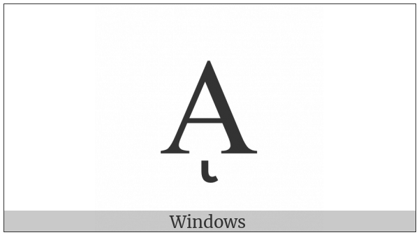 Greek Capital Letter Alpha With Prosgegrammeni on various operating systems