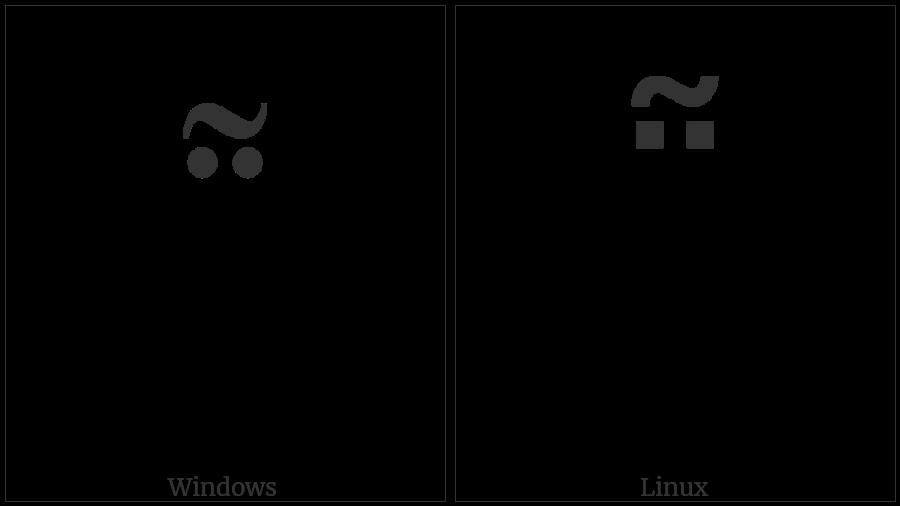 Greek Dialytika And Perispomeni on various operating systems