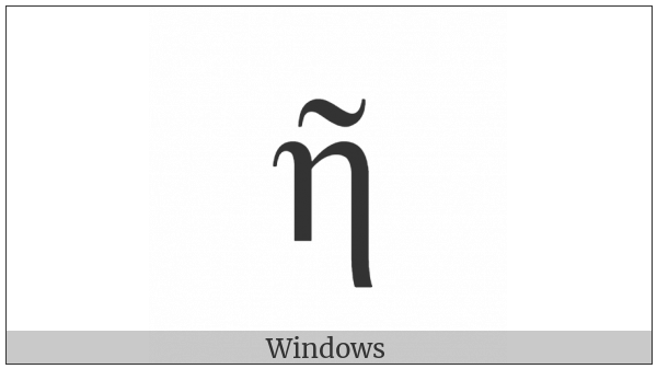 Greek Small Letter Eta With Perispomeni on various operating systems