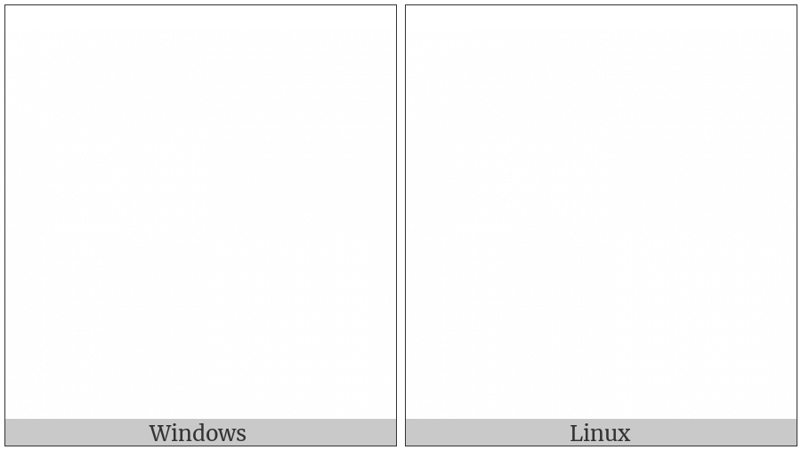 Em Space on various operating systems