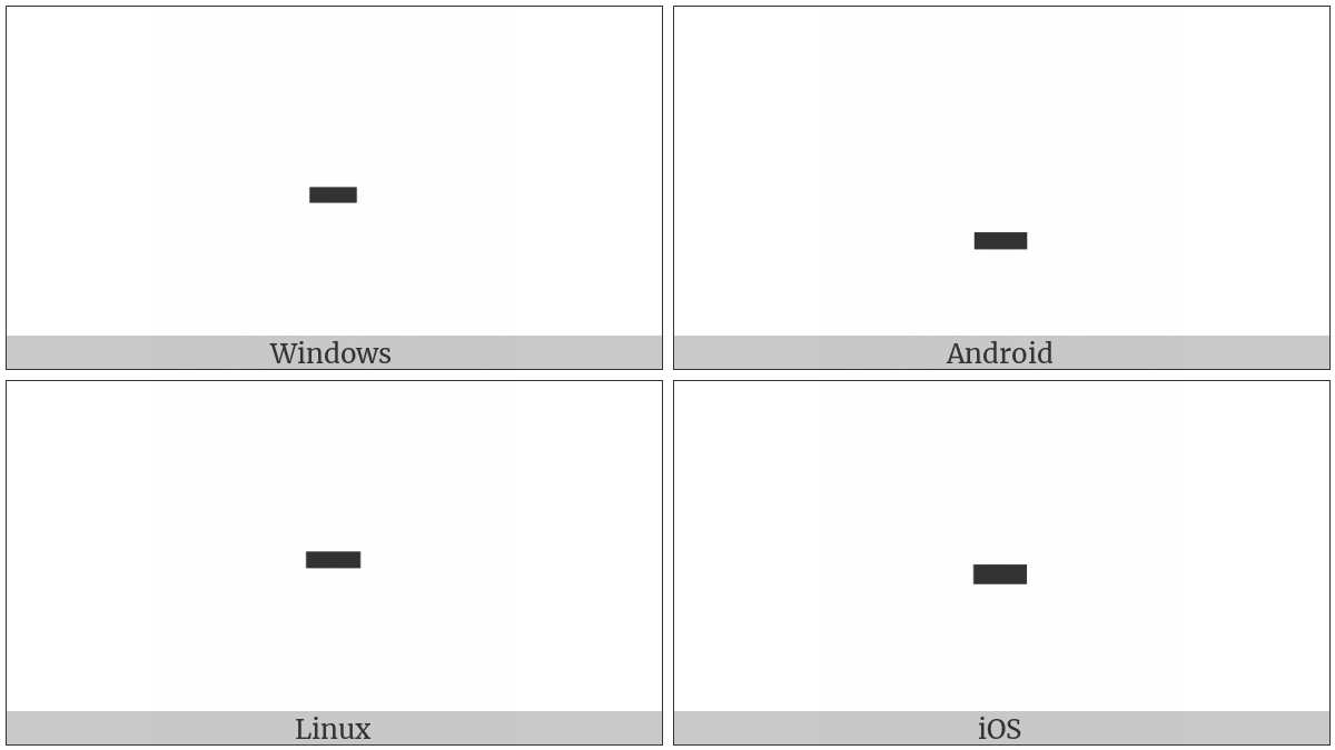 Hyphen on various operating systems