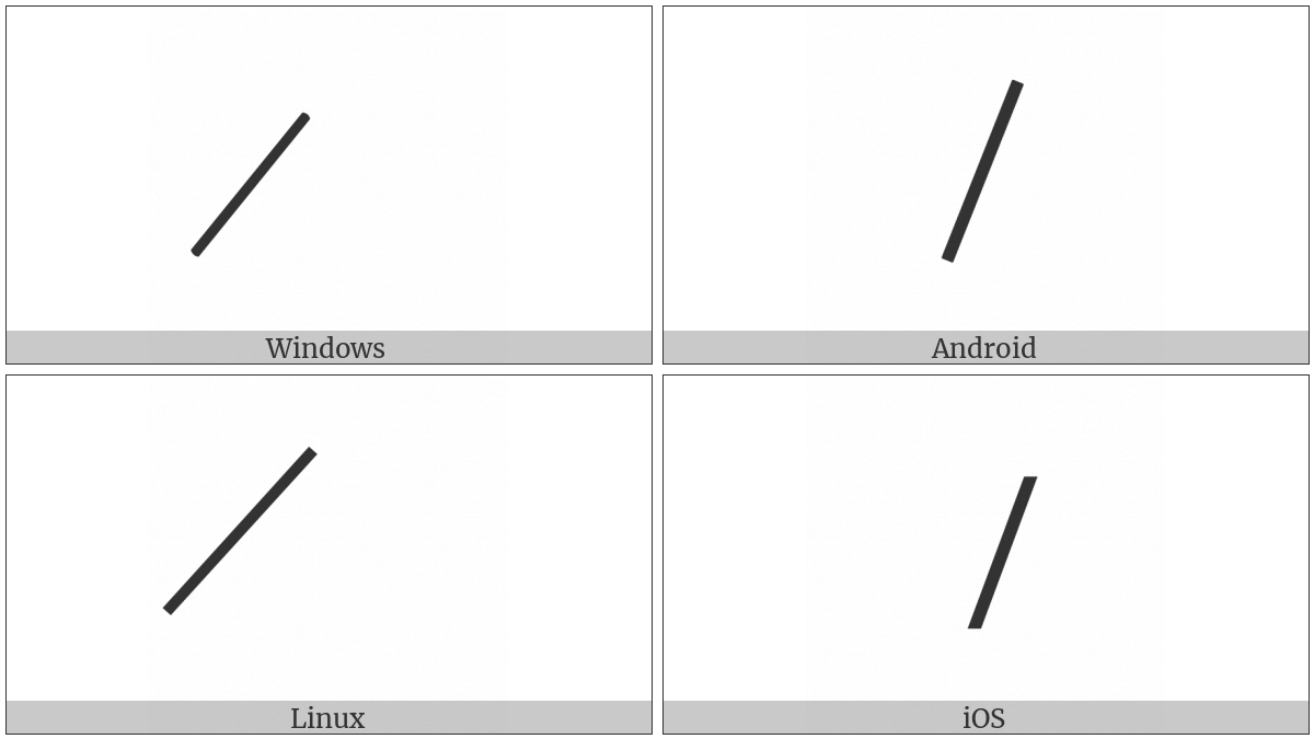 Combining Long Solidus Overlay on various operating systems