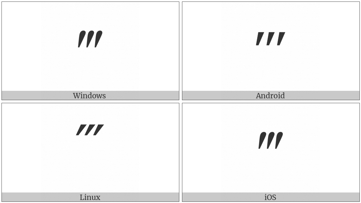 Triple Prime on various operating systems