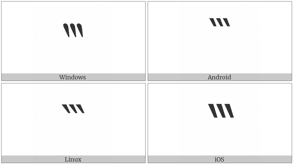 Reversed Triple Prime on various operating systems