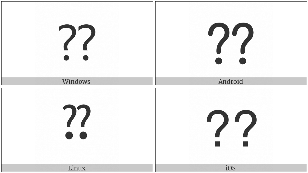 Double Question Mark on various operating systems