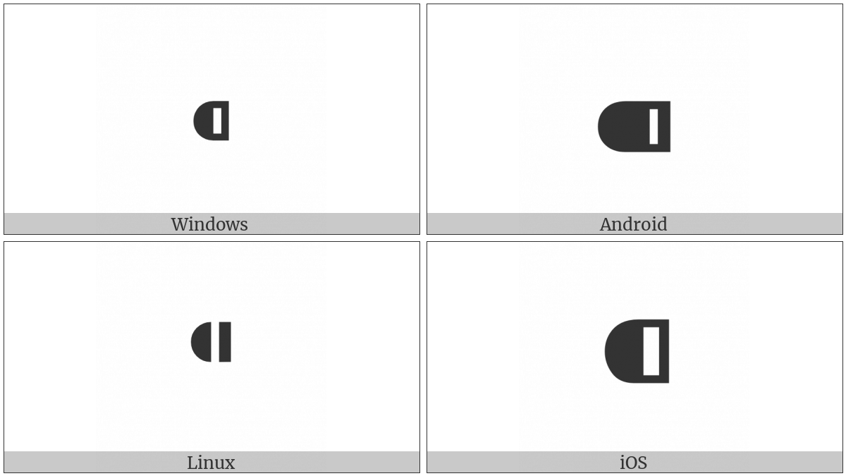 Black Leftwards Bullet on various operating systems