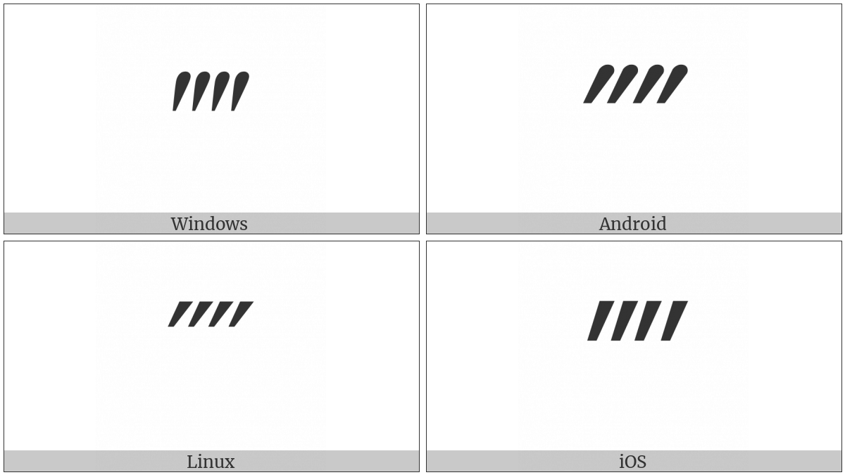 Quadruple Prime on various operating systems