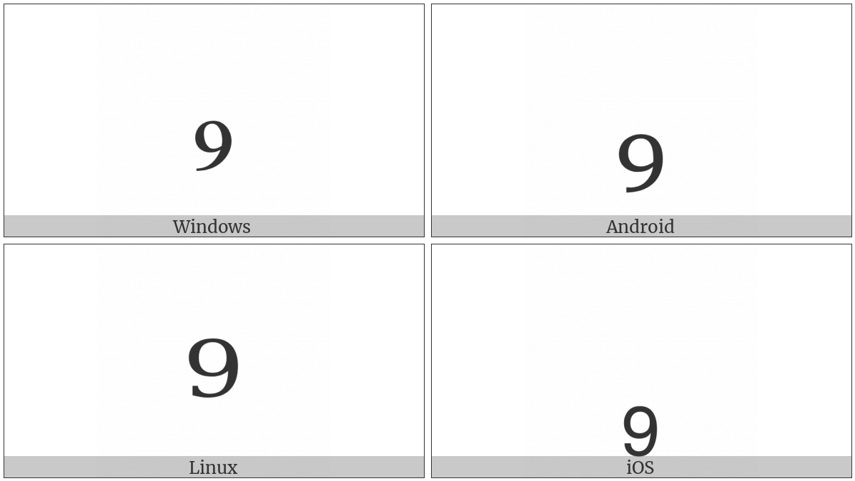 Subscript Nine on various operating systems
