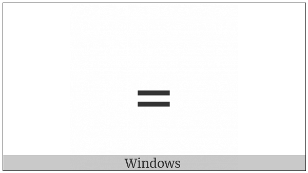 Subscript Equals Sign on various operating systems