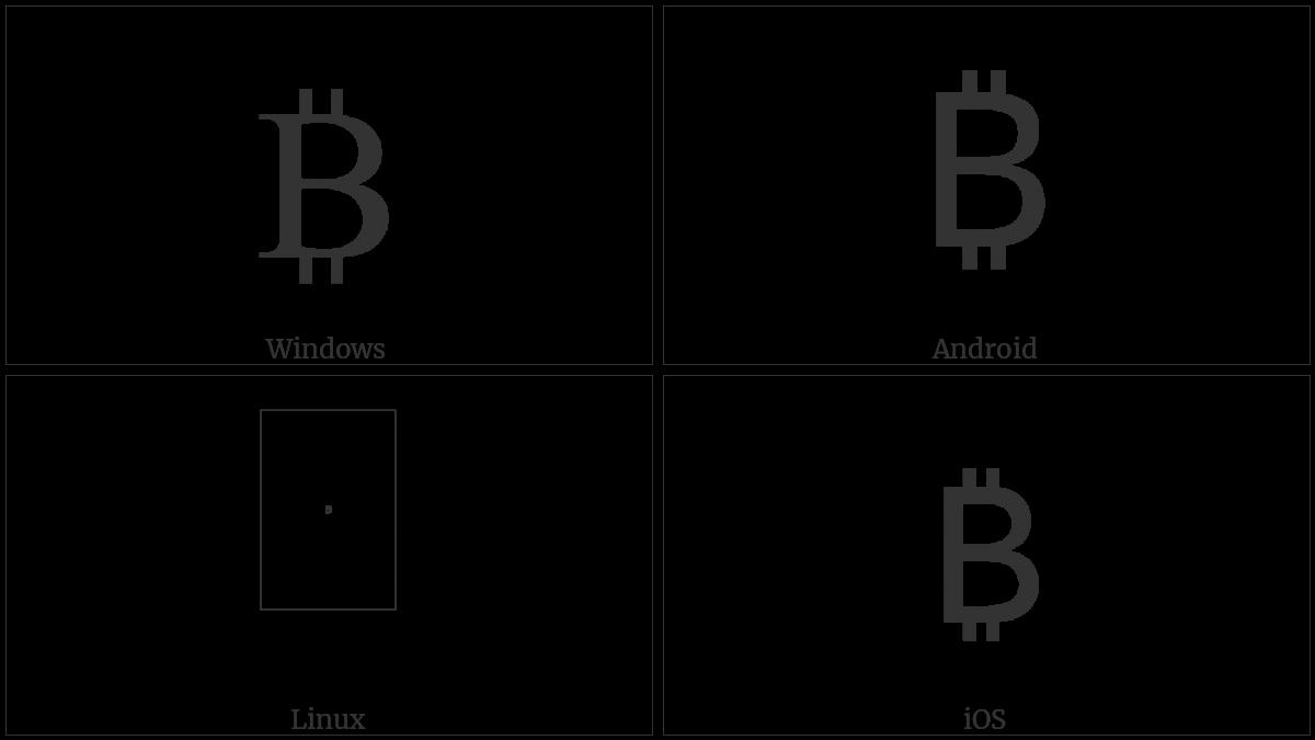 Bitcoin sign utf 8 icons symbol information table buycottarizona Image collections