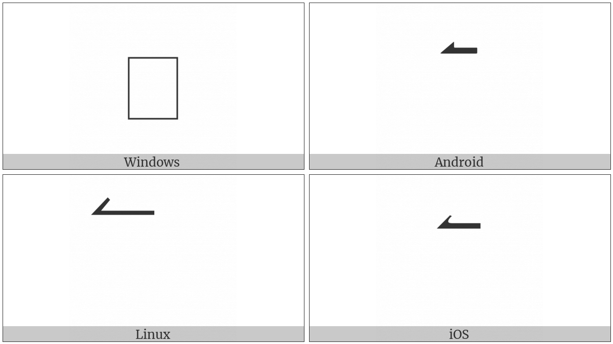 Combining Left Harpoon Above on various operating systems