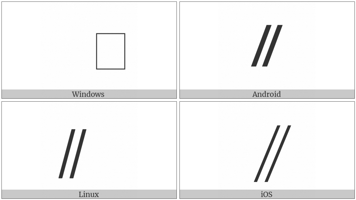 Combining Long Double Solidus Overlay on various operating systems