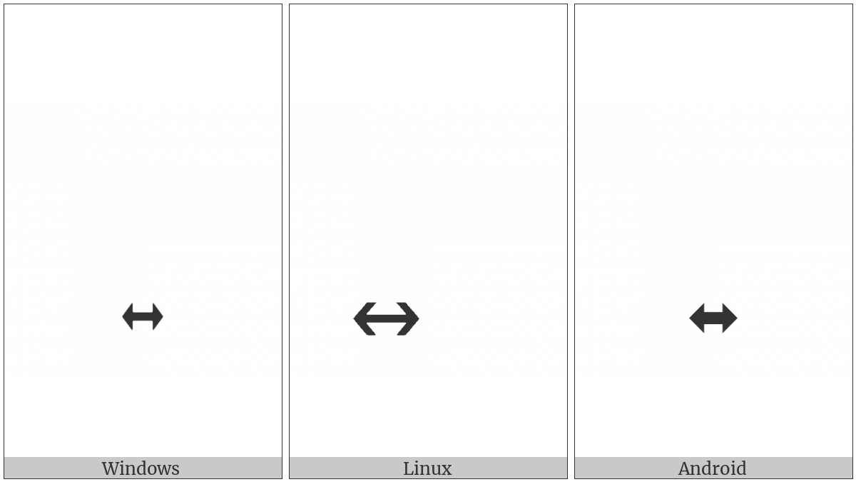 Combining Left Right Arrow Below on various operating systems