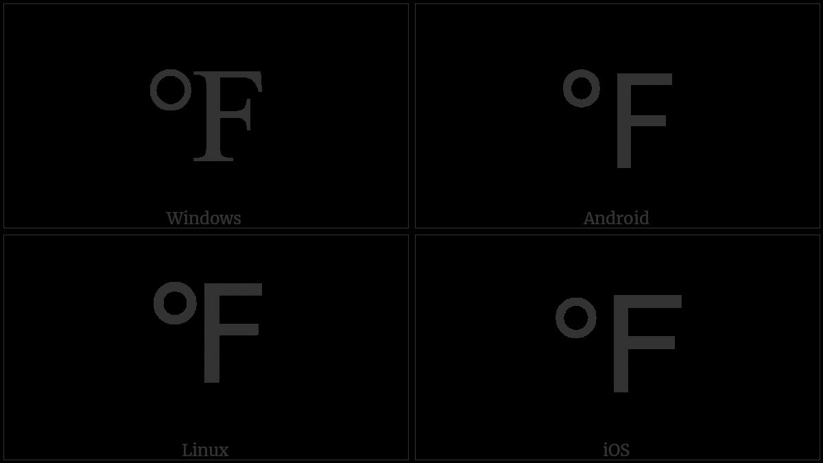 Degree Fahrenheit Utf 8 Icons