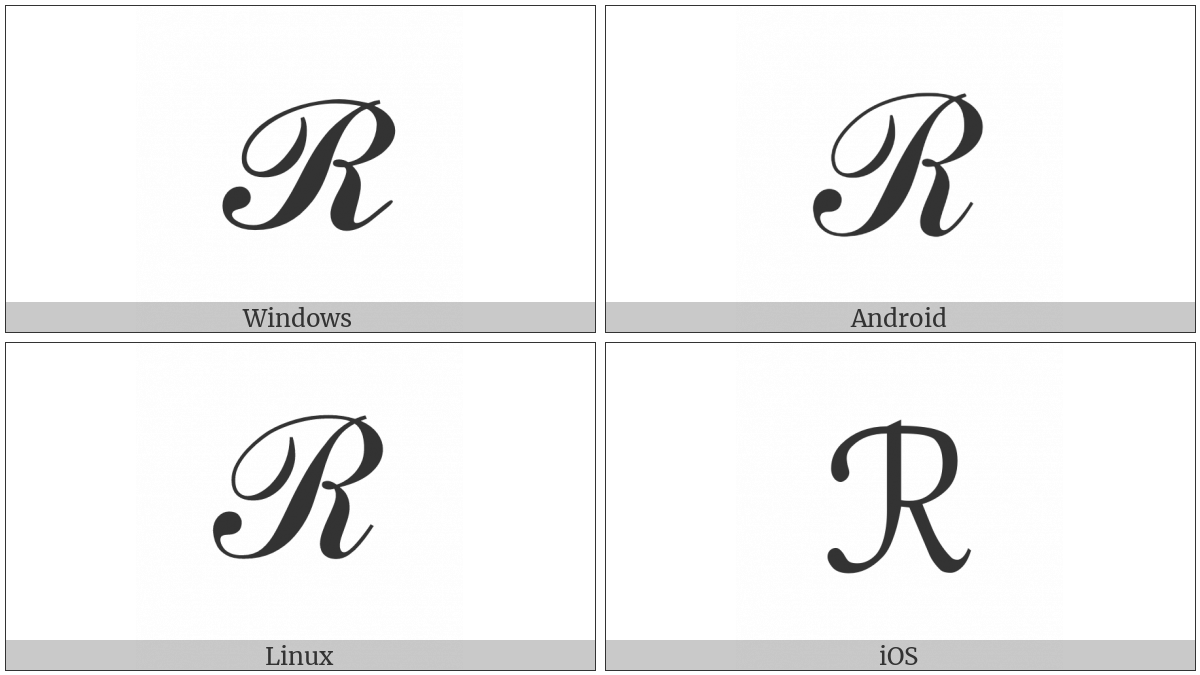 Script Capital R on various operating systems