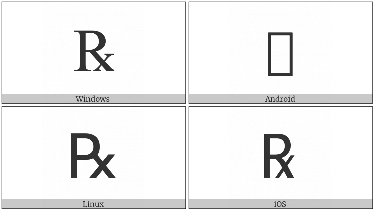 Prescription Take Utf 8 Icons