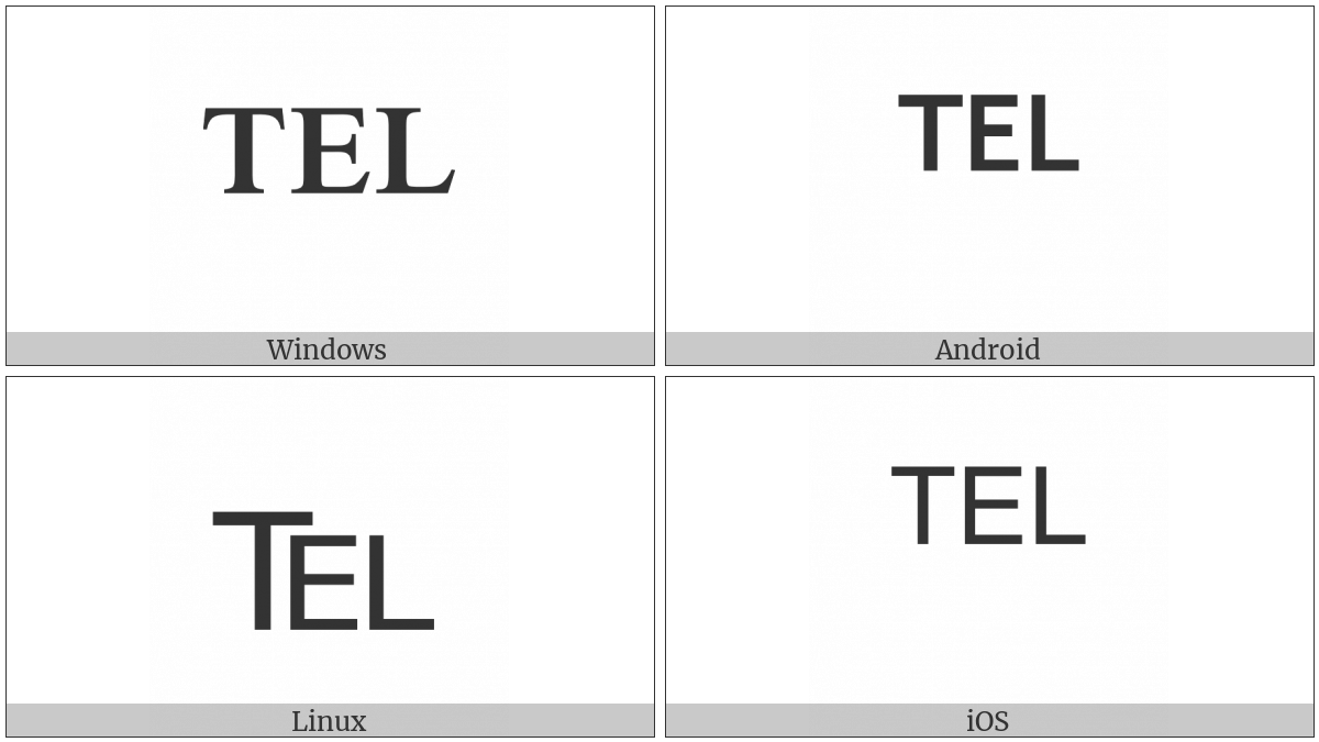 Telephone Sign on various operating systems