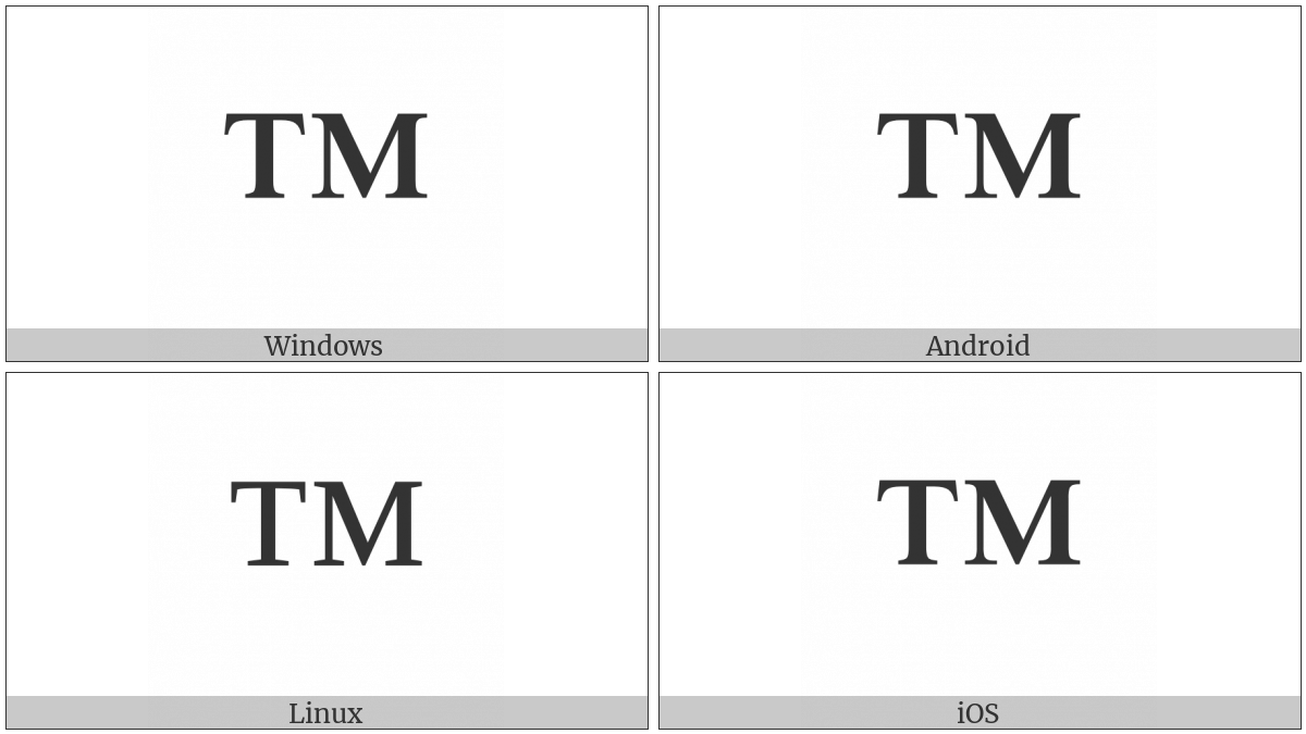 Trade Mark Sign Utf 8 Icons