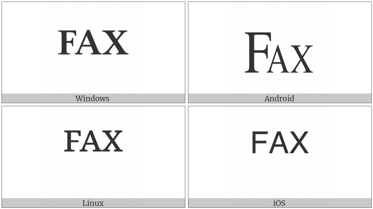 Facsimile Sign on various operating systems