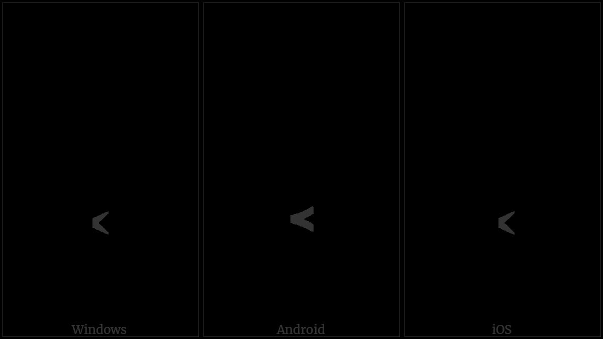 COMBINING LEFT ARROWHEAD BELOW utf-8 character