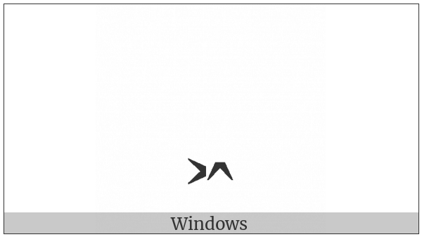 Combining Right Arrowhead And Up Arrowhead Below on various operating systems