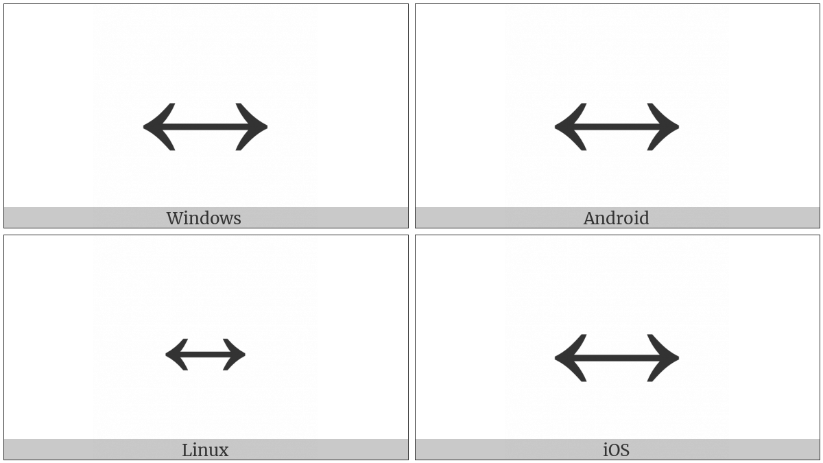 Left Right Arrow on various operating systems
