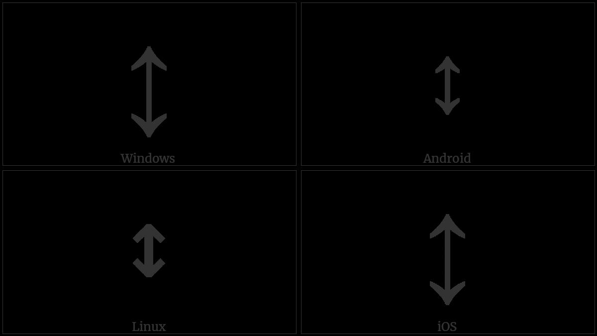 Up Down Arrow Utf 8 Icons