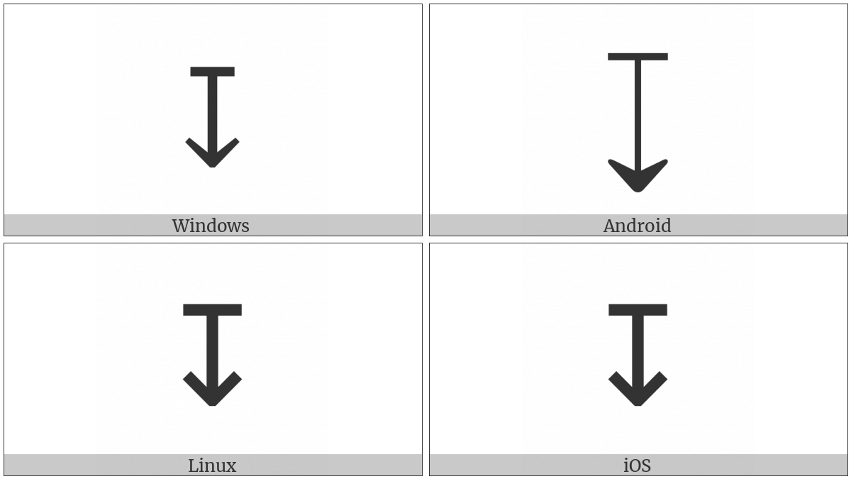 Downwards Arrow From Bar on various operating systems