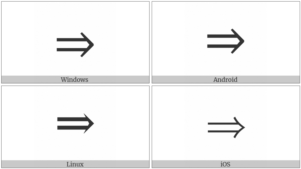 Rightwards Double Arrow Utf 8 Icons