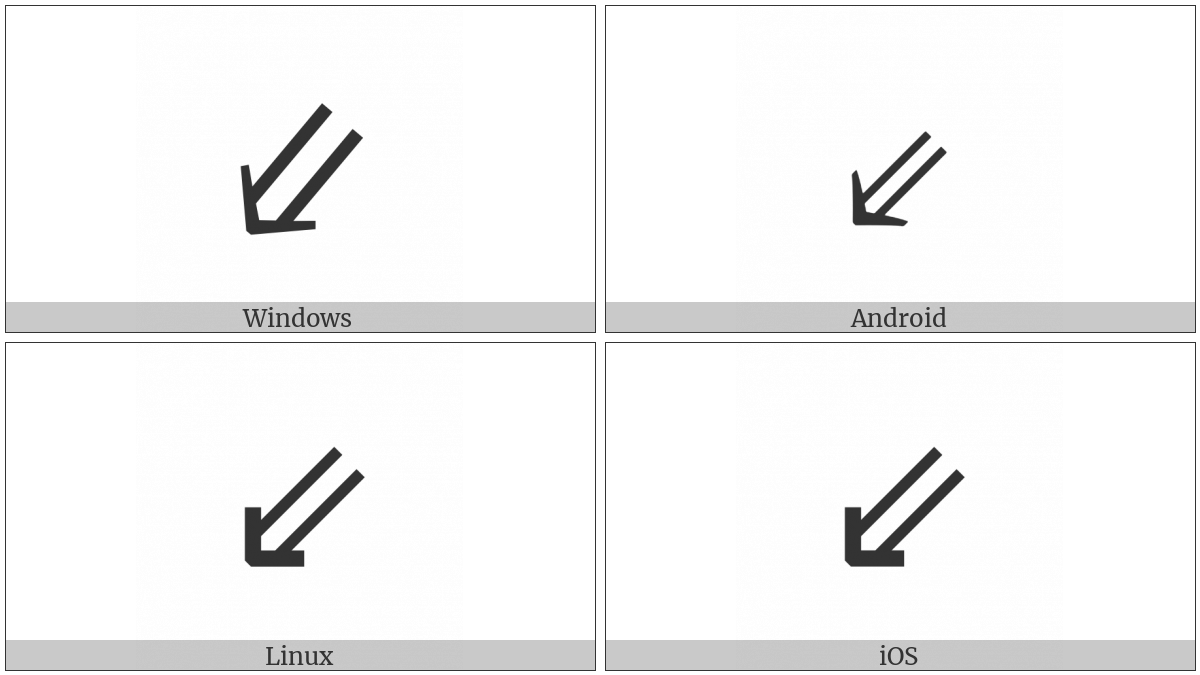 South West Double Arrow on various operating systems