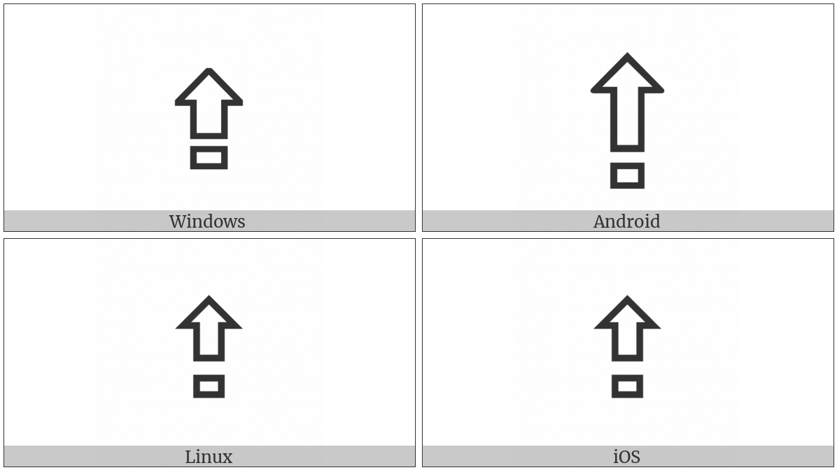 Upwards White Arrow From Bar on various operating systems