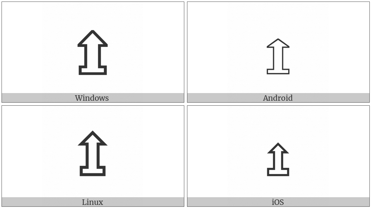 Upwards White Arrow On Pedestal on various operating systems